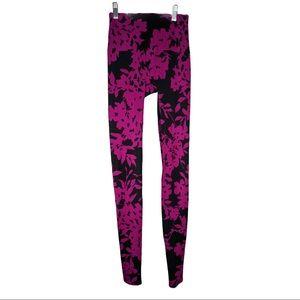 K-DEER Purple/Black Floral Leggings